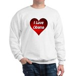 I Love Obama 2012 Sweatshirt