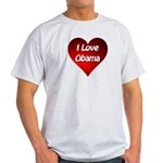 I Love Obama 2012 Light T-Shirt