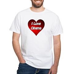 I Love Obama 2012 White T-Shirt