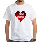 I Love Obama 2012 White T-Shirt