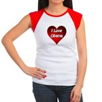 I Love Obama 2012 Women's Cap Sleeve T-Shirt