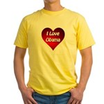 I Love Obama 2012 Yellow T-Shirt