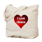 I Love Obama 2012 Tote Bag