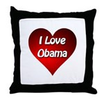 I Love Obama 2012 Throw Pillow