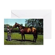 Thoroughbred Racehorse Watercolor Greeting Cards