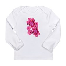 Hawaiian Honu And Hibiscus Long Sleeve Infant T-Sh