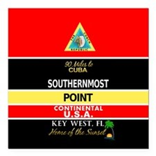 Southernmost Point Buoy Key West Square Car Magnet