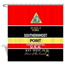 Southernmost Point Buoy Key West Shower Curtain