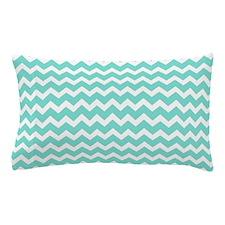 Aqua White Chevron Pattern Pillow Case