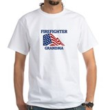Firefighter GRANDMA (Flag) Shirt