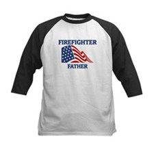 Firefighter FATHER (Flag) Tee