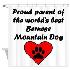 Bernese Mountain Dog Parent Shower Curtain