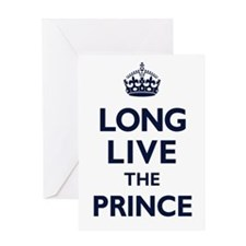 Long Live the Prince - Navy on White Greeting Card