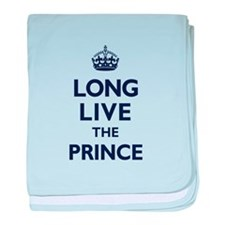 Long Live the Prince - Navy on White baby blanket