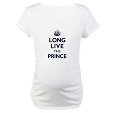 Long Live the Prince - Navy on White Shirt