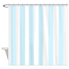 Light aqua Stripes Shower Curtain