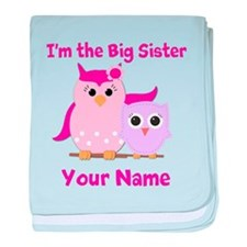 Big Sister Owl baby blanket