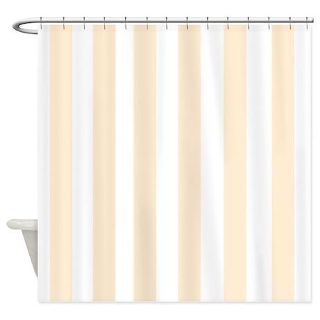 Light Peach Stripes Shower Curtain By FamilyFunShoppe
