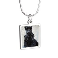 Blue Boy Silver Square Necklace