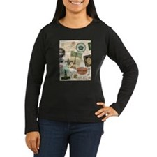 Vintage Travel collage Long Sleeve T-Shirt