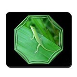 Green Lizard Black Mousepad
