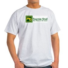 JD Tractor Stud Ash Grey T-Shirt