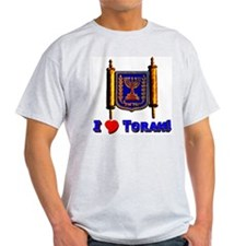 I LOve Torah! Ash Grey T-Shirt
