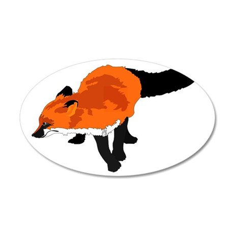 Sly Fox 35x21 Oval Wall Decal