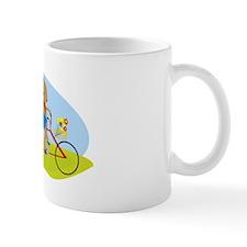 Squirrels on a Tandem Bike Small Mugs