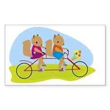 Squirrels on a Tandem Bike Decal