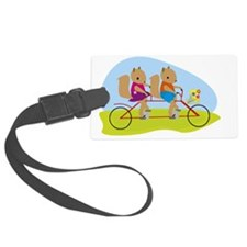 Squirrels on a Tandem Bike Luggage Tag