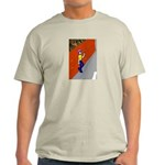 Man Leaning Against Wall Ash Grey T-Shirt