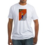 Man Leaning Against Wall Fitted T-Shirt