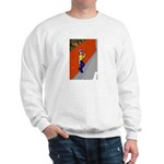 Man Leaning Against Wall Sweatshirt