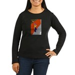 Man Leaning Against Wall Women's Long Sleeve Dark