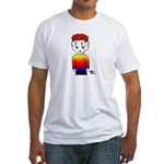 Rainbow Man Fitted T-Shirt