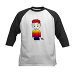 Rainbow Man Kids Baseball Jersey