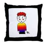 Rainbow Man Throw Pillow