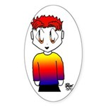 Rainbow Man Oval Sticker