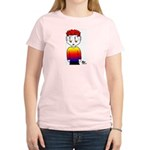 Rainbow Man Women's Pink T-Shirt