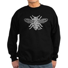 Celtic Knotwork Bee - white lines Sweatshirt