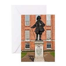 Statue of King William III Greeting Card