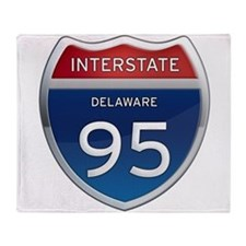 Delaware Interstate 95 Throw Blanket