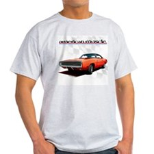 1970 Dodge Charger Red Ash Grey T-Shirt