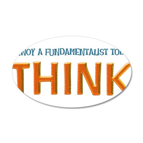 think 35x21 Oval Wall Decal