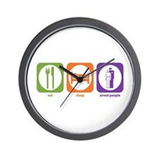 Eat Sleep Arrest Wall Clock