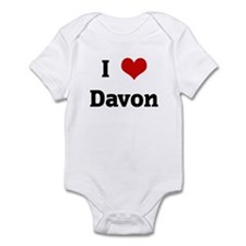 I Love Davon Infant Bodysuit