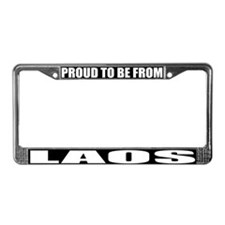 Laos License Plate Frame