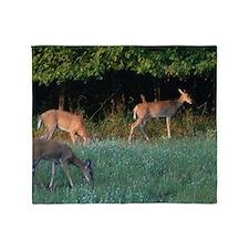Grazing Deer Throw Blanket