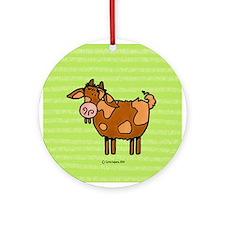 Goat V Ornament (Round)